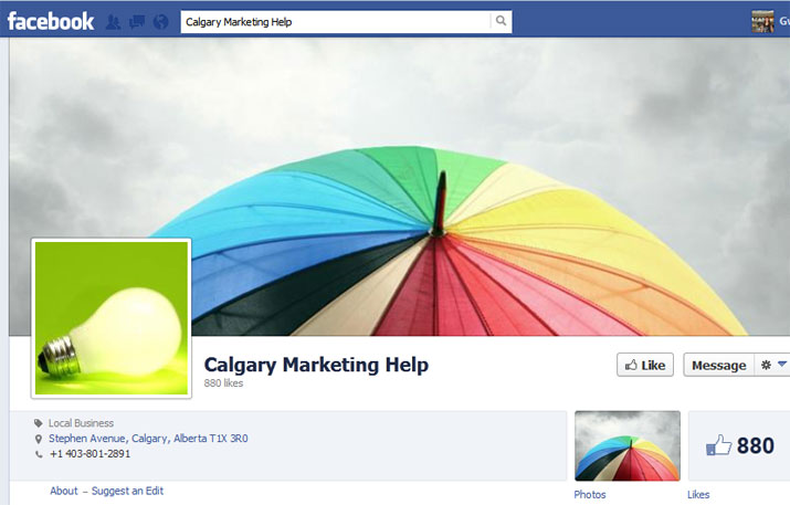 Calgary Marketing Help Facebook Page